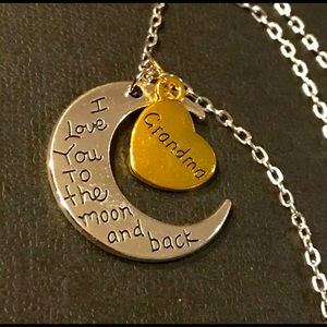 NWT Love you to the moon & back Grandma Necklace